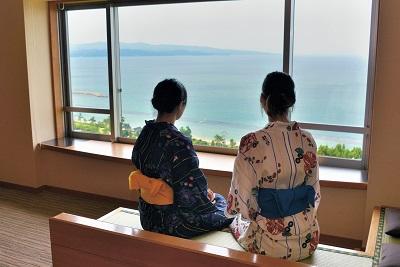 大海原を満喫「天の庭プラン」 ☆最上階客室と個室食事会場でゆっくりのんびり♪